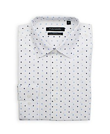 Men's Slim Fit Non-Iron, Wrinkle Resistant Performance Stretch Dress Shirt - Polka Dot