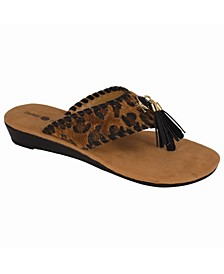 Margo Wedge Thong Sandal