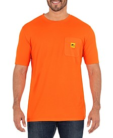 Men's Short Sleeve Jersey Plaited Performance Pocket Tee