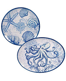 Certified International Oceanic Melamine 2-Pc. Platter Set