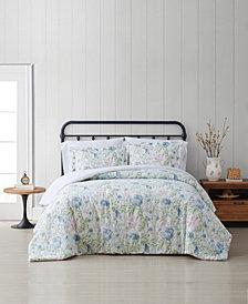 Cottage Classics Field Floral King 3 Piece Comforter Set