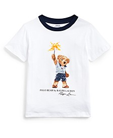 Toddler Boys Sparkler Bear Cotton T-Shirt