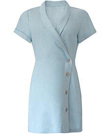 BCBGeneration Chambray Twill Button Dress