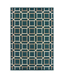 "Scope SCO12 Blue 9'10"" x 12'10"" Area Rug"