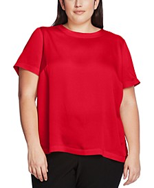 Plus Size Hammered Satin Top