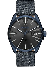 Men's MS9 Blue Denim Strap Watch 44mm