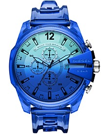 Men's Chronograph MegaChief Transparent Polyurethane Strap Watch 51mm
