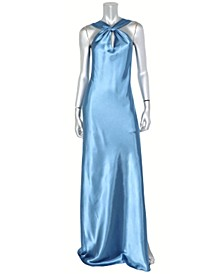 Juniors' Keyhole Halter Gown