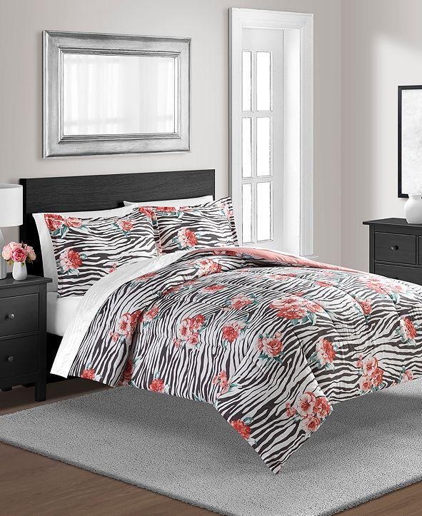 Sunham The Exotic Floral Twin Reversible Comforter Set