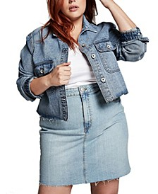 Curve Denim Skirt