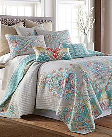 Deniza Damask Reversible King Quilt Set