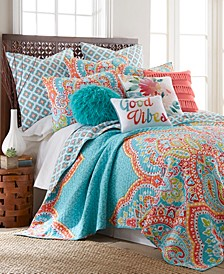 Majestic Damask Reversible Full/Queen Quilt Set