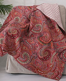Spruce Paisley Reversible Quilted Throw