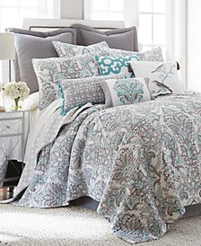 Legacy Damask Reversible Full/Queen Quilt Set