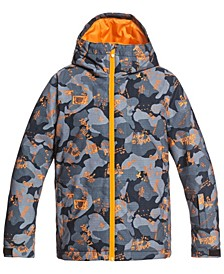 Quicksilver Big Boys Mission Printed Youth Jacket