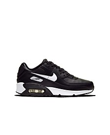 Big Kids Air Max 90 Leather Running Sneakers from Finish Line