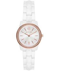 Runway Mercer Three-Hand White Ceramic Watch