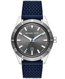 Layton Three - Hand Navy Silicone Mesh Watch