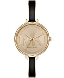 Women's Jaryn Three-Hand Gold-Tone Stainless Steel Watch 36mm
