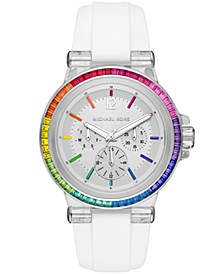 Dylan Multifunction White Silicone Watch