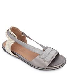 by Kenneth Cole Women's Lark Elastic Flat Sandals