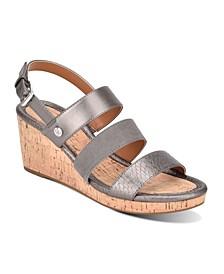 Talene 3 Strap Wedge Heel Sandal
