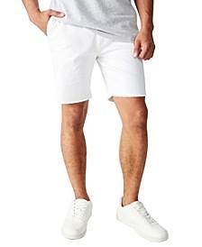 Raw Hem Chino Shorts