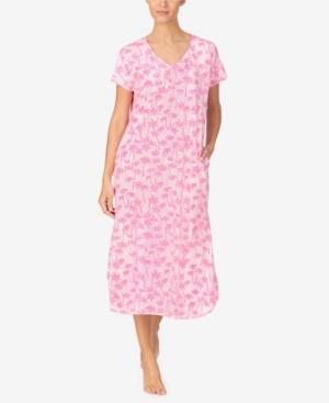 Ellen Tracy Women's Short Sleeve Nightgown In Pink Novel