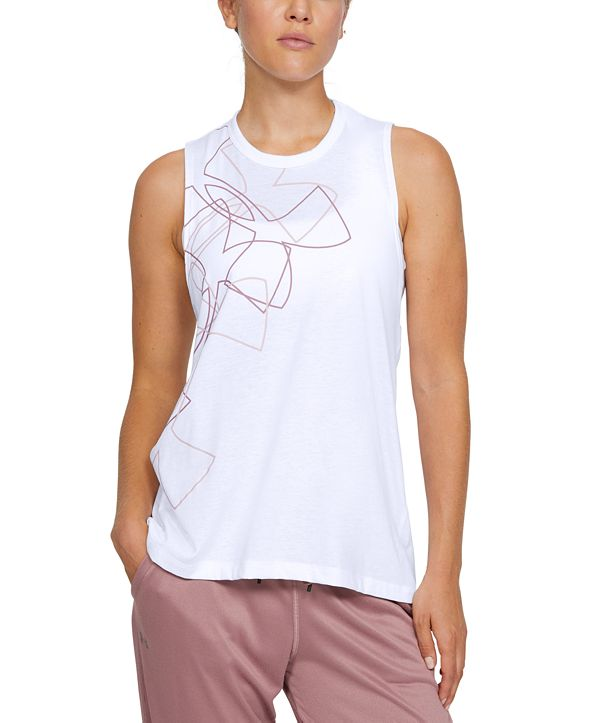 Under Armour Women's Graphic Crossover-Back Tank Top