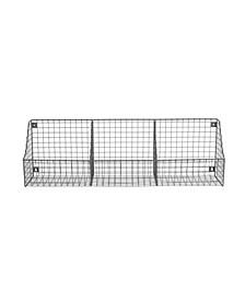 Diversified Wall Mount Triple Storage Wire Basket