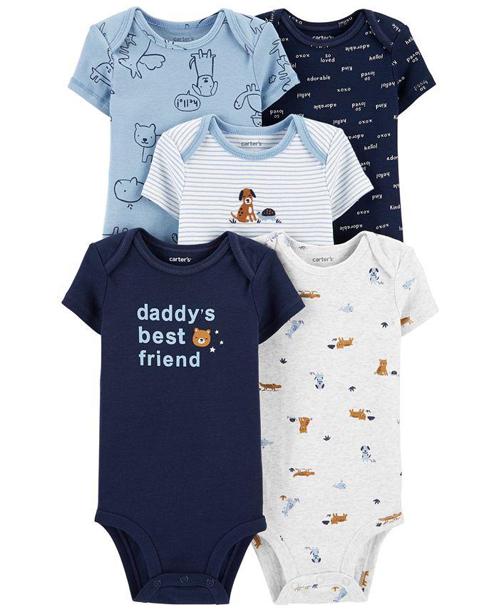Carter's - Baby Boys 5-Pk. Cotton Daddy's Best Friend Bodysuits