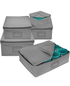 Dish Storage Square, Set of 5