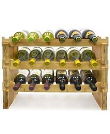 3 Tier Stackable Bamboo Wine Rack