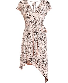 Animal-Print Asymmetrical Dress