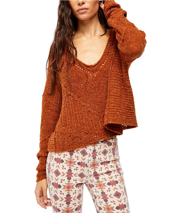 Free People Seashell Cotton Sweater