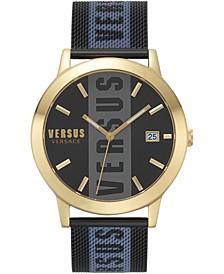 Men's Barbès Black Stainless Steel Mesh Bracelet Watch 44mm
