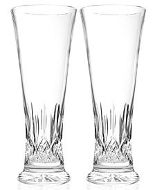 Waterford Drinkware Lismore Pilsner Beer Glasses, Set of 2