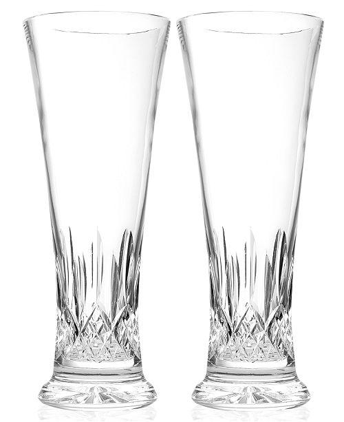 Waterford Drinkware Lismore Pilsner Beer Glass Pair