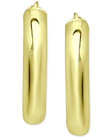 """Small Polished Hoop Earrings in 18K Gold-Plated Sterling Silver, 1"""", Created for Macy's"""