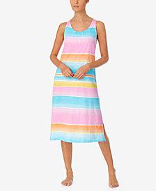 Lauren Ralph Lauren Printed Ballet-Length Nightgown