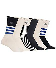 Women's Stripe Roll Top 6pk Crew Socks