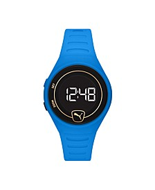Forever Faster LCD Blue Polyurethane Watch 42mm
