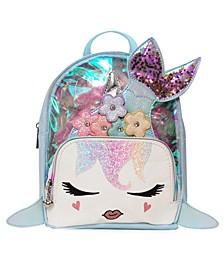 Big Girls Gisel Clear Mermaid Mini Backpack