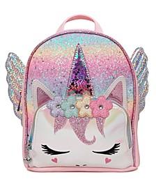 Big Girls Miss Pegasus Gwen Ombre Glitter Mini Backpack