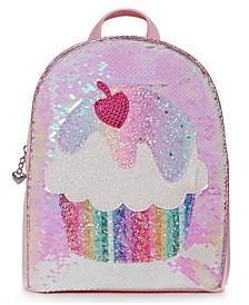 Big Girls Cupcake Sequin Mini Backpack