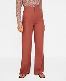 Linen High Waist Pants