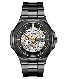 Men's  Black plated Stainless Steel Watch on Black plated Stainless Steel Bracelet, 47mm