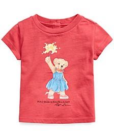 Baby Girls Cotton Polo Bear T-Shirt