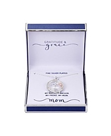 """Gratitude & Grace Rose Gold Plated Silver Two-Tone """"Mom"""" Anchor Shaker Necklace, 16""""+2"""" Extender"""