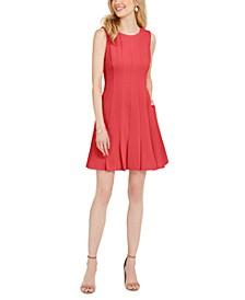 Petite Pleated Fit & Flare Dress